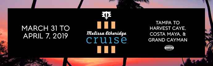 Melissa Etheridge Cruise Banner