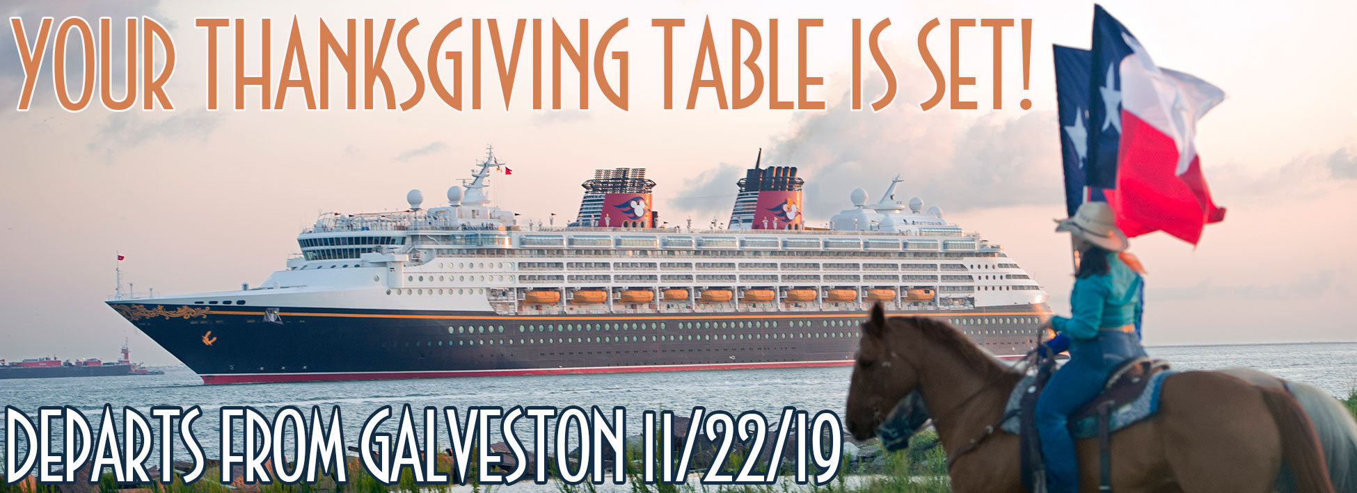 Disney Cruise Line Thanksgiving Cruise from Galveston 2019