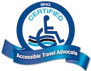 SNG Certified Accessible Travel Advocate logo