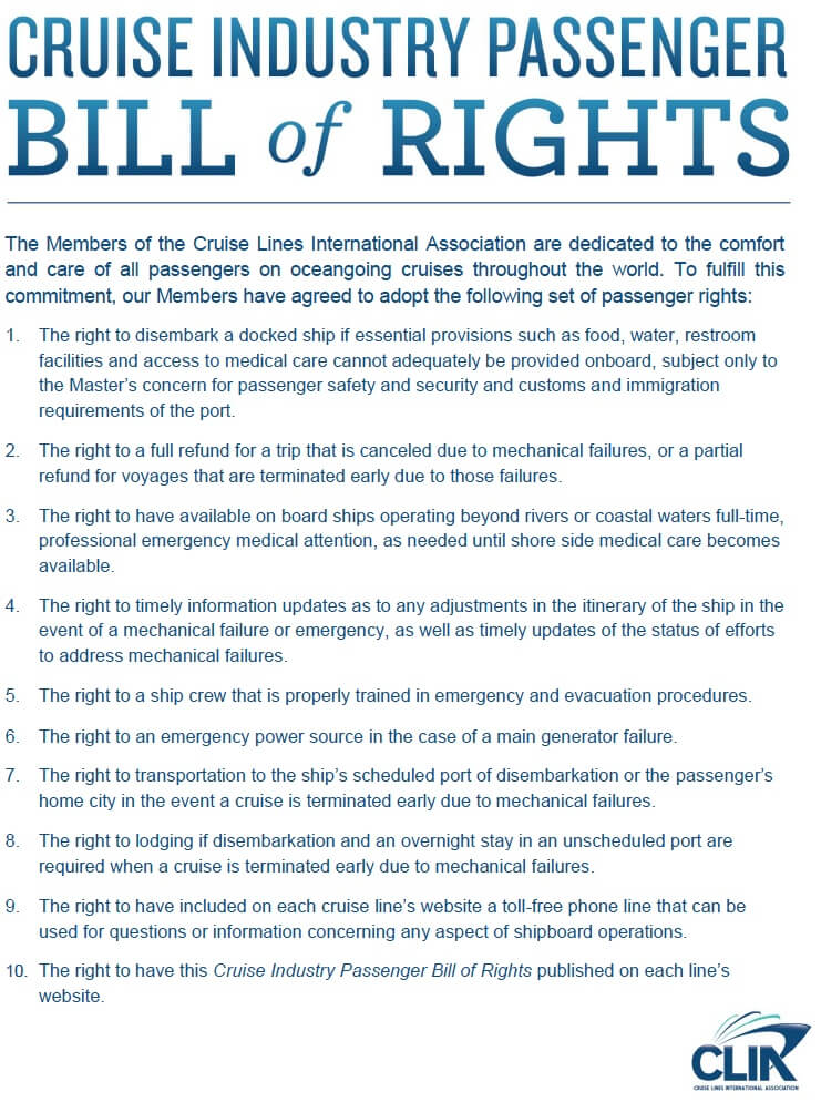 Cruise Industry Passenger Bill of Rights