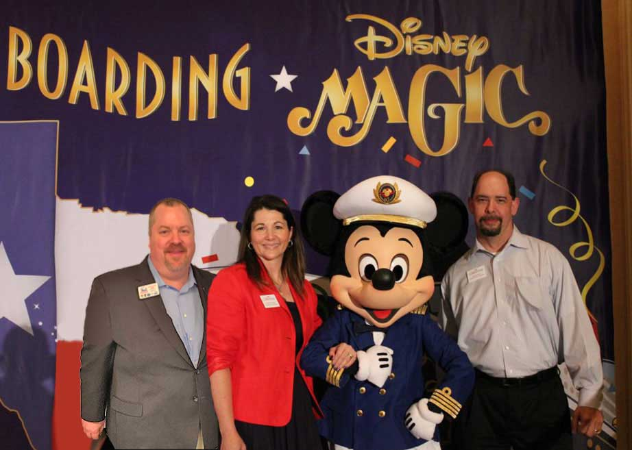 Premier Custom Travel staff with Mickey Mouse